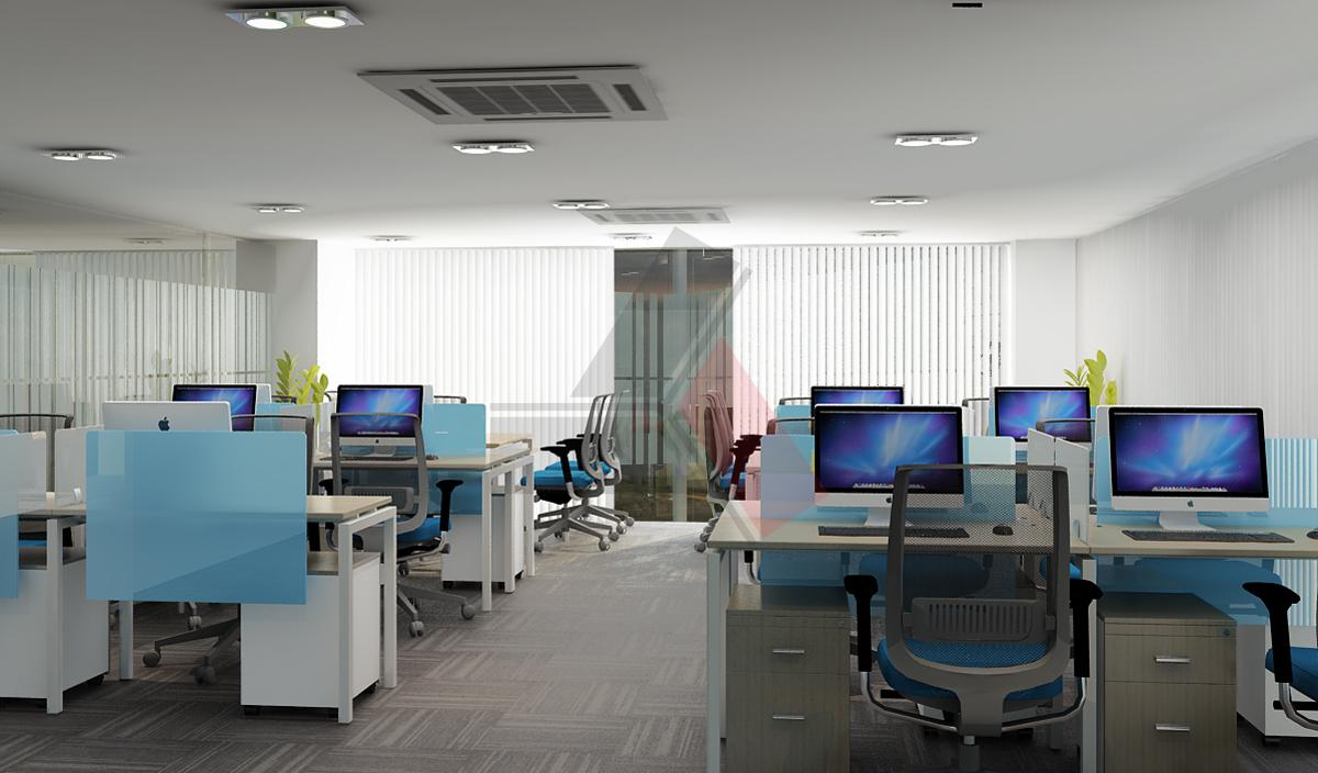 Dự án thiết kế thi công nội thất văn phòng Tupperware