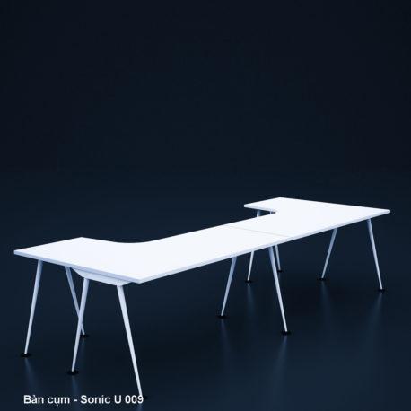 Thiết kế & Thi công nội thất văn phòng – Bàn cụm – Sonic U 009