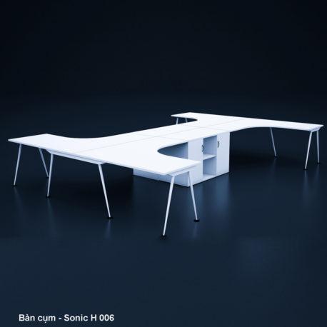 Thiết kế & Thi công nội thất văn phòng – Bàn họp – Sonic H 006