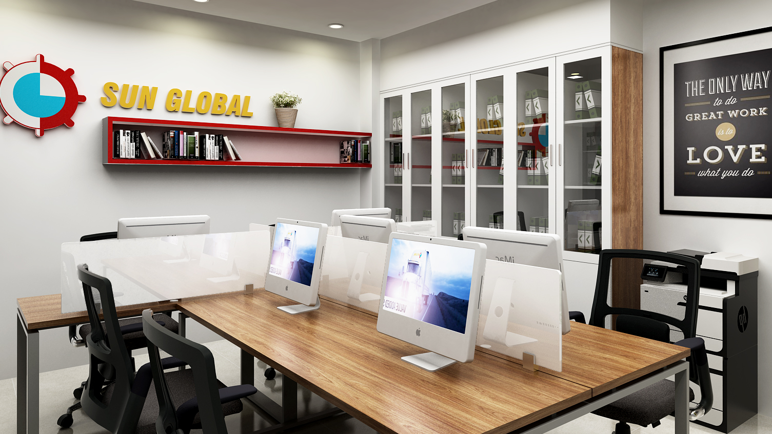 Dự án thiết kế nội thất văn phòng SunGlobal