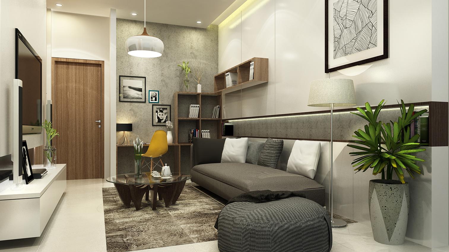 Thiết kế thi công nội thất căn hộ anh Khánh quận 9