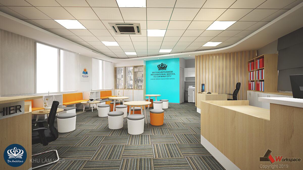 Dự án thiết kế thi công nội thất trường Tiểu học Quốc tế BVIS